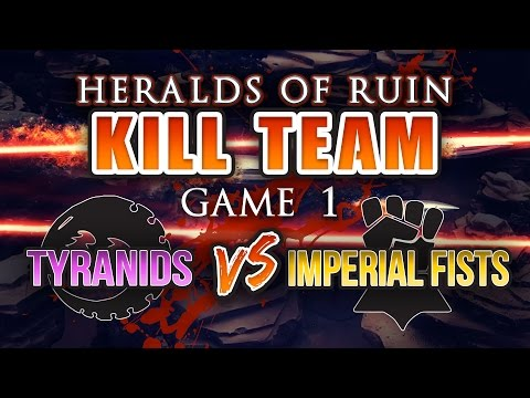 Heralds of Ruin Kill Team Campaign Game 1 - Tyranids vs Imperial Fists