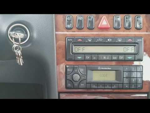 How To Unlock A Mercedes Radio