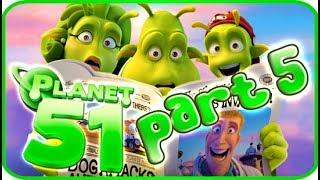 Planet 51 Walkthrough Part 5 (PS3, Xbox 360, Wii) - Movie Game