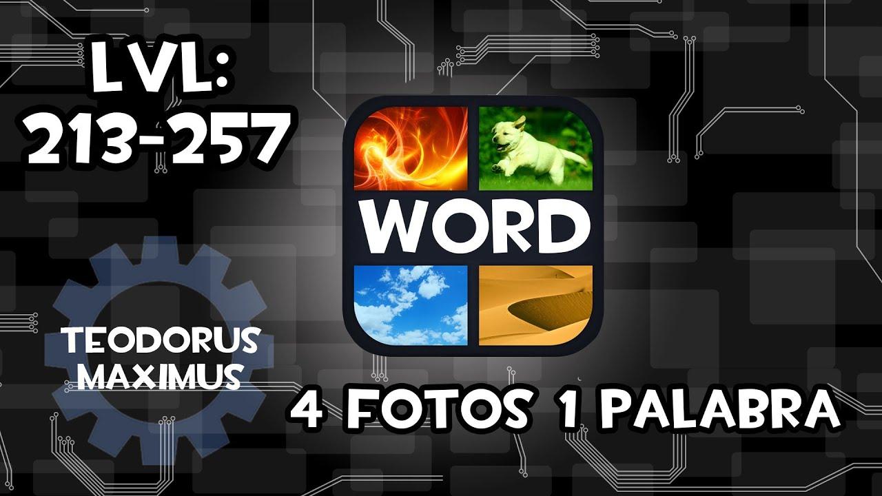 soluciones 4 fotos y 1 palabra respuestas 213 257 rapido