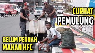 MAKAN KFC BARENG PEMULUNG   Sosial Eksperiment Indonesia   SOSIALNET