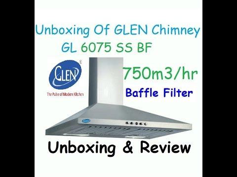 Glen Chimney 60cm GL6075 | Baffle Filter | Hood Chimney | Unboxing | Review