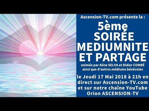[BANDE-ANNONCE] 5ème Soirée Médiumnité et Partage avec Aline SELVA et Didier COMBÉ