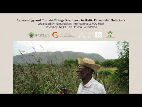 Agroecology and Climate Change Resilience in Haiti: Farmer-led Solutions