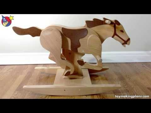 Wood Toy Plans - Mustang Rocking Horse - YouTube