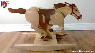 Wood Toy Plan Mustang Rocking Horse