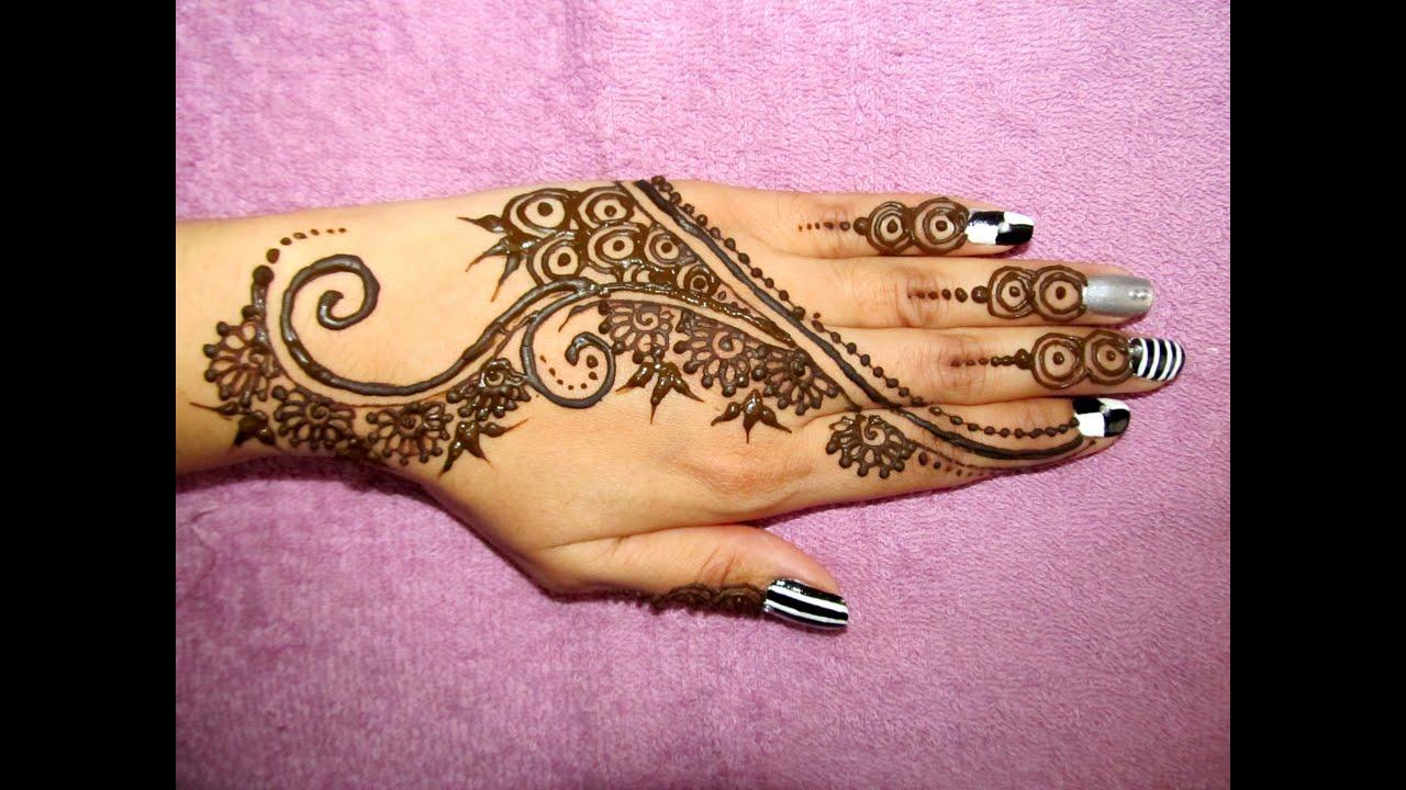 Pretty Simple Henna Designs: Simple And Cute Mehendi Design-henna