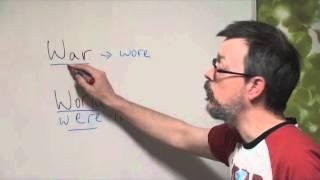 Q&A war versus world pronunciation