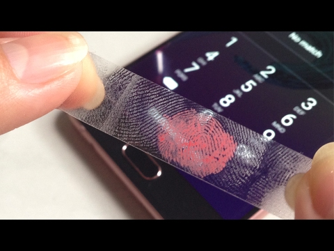 Unlock iPhone or any Android phone with Lipstick and Scotch Transparent Tape