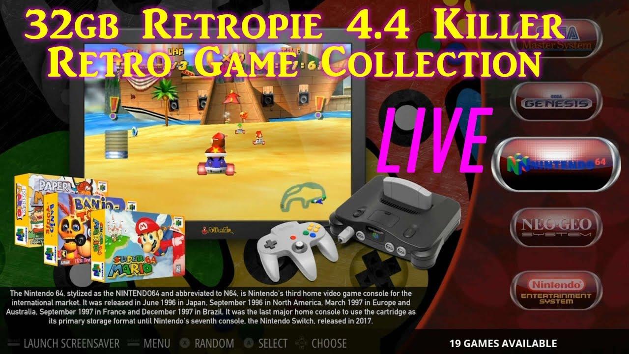 Retropie 4 4 Damaso 32gb Retro Gaming On The Raspberry Pi 3 B+