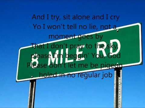 Eminem - 8 Mile Road - Lyrics On Screen