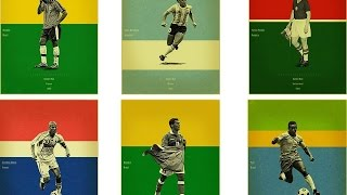 World Cup Golden Ball Winners 1930 - 2014 / Vencedores da Bola de Ouro Copa do Mundo1930 - 2014