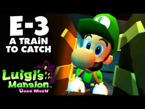 Luigi's Mansion Dark Moon - Treacherous Mansion - E-3 A Train to Catch (Nintendo 3DS Walkthrough)