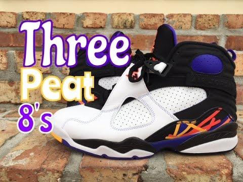 "Air Jordan 8 Retro ""Three Peat"" Review"