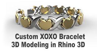 Custom XOXO Bracelet- Jewelry CAD Design Tutorial 3D Modeling With Rhino 3D 179