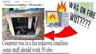 Computer was in a fire - some stuff should work $50 o.b.o.