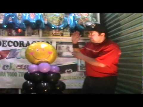 Decoracion de graduacion mu eco con globos youtube - Hacer munecos con globos ...