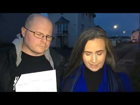 Balbriggan Eviction Woman anger at Leo Varadkar and Michael D