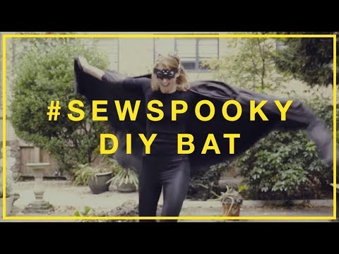 How to make a DIY Halloween Bat costume #SewSpooky I Hubbub Campaigns