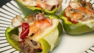 Philly Cheesesteak Stuffed Peppers  Diabetes-Friendly Recipe  Blue Meals