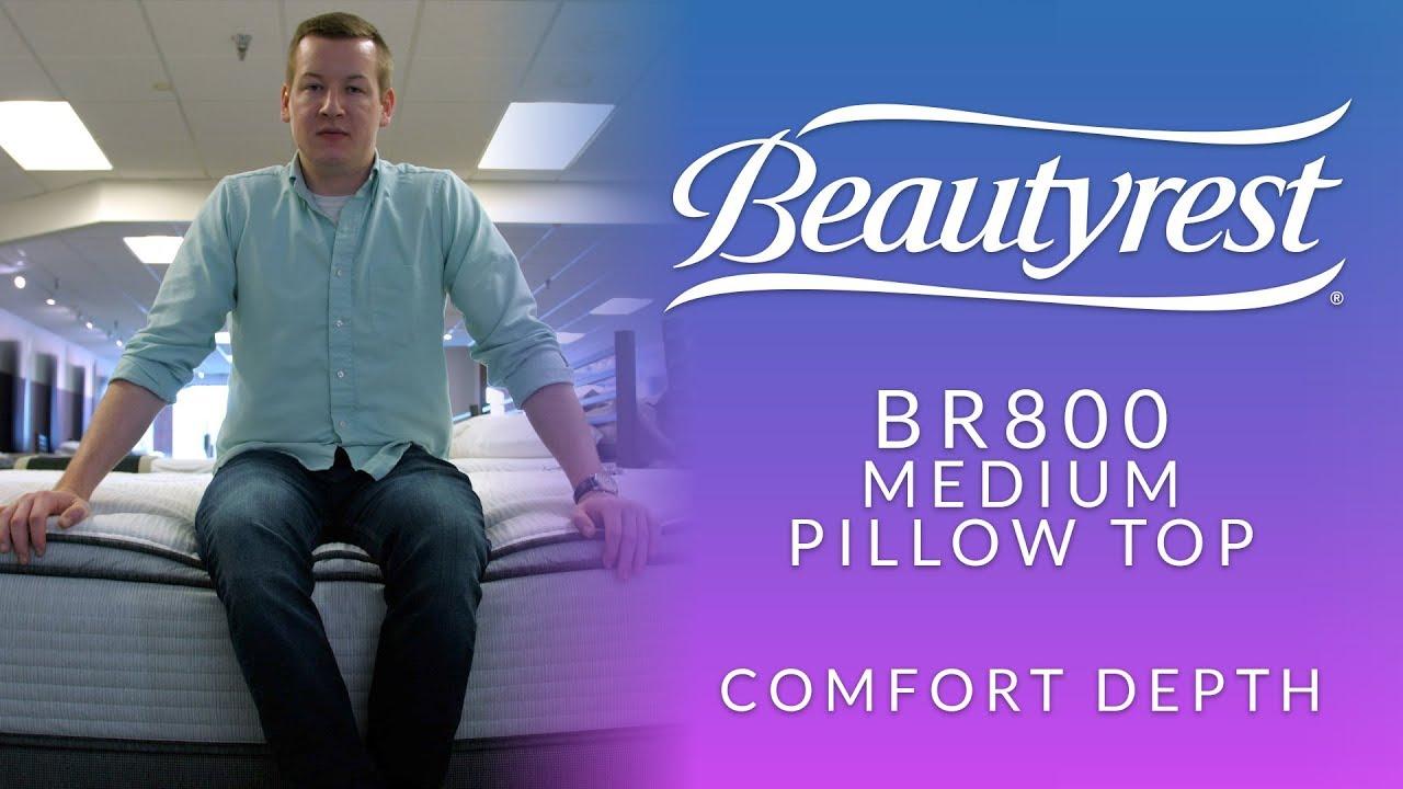 beautyrest br800 medium pillow top mattress ccomfort depth 1