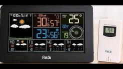 FanJu Wetterstation Wlan W-Lan Alle Wetterdaten auf einen Blick! Sieht gut aus
