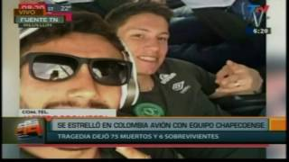 74 DEAD ACCIDENT AEREO CHAPECOENSE FOOTBALL TEAM IS BETWEEN THE DECEASED