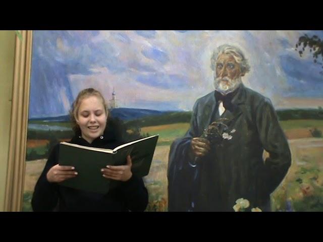 Изображение предпросмотра прочтения – АнгелинаОвчинникова читает произведение «Голуби Тургенев И.С.» И.С.Тургенева