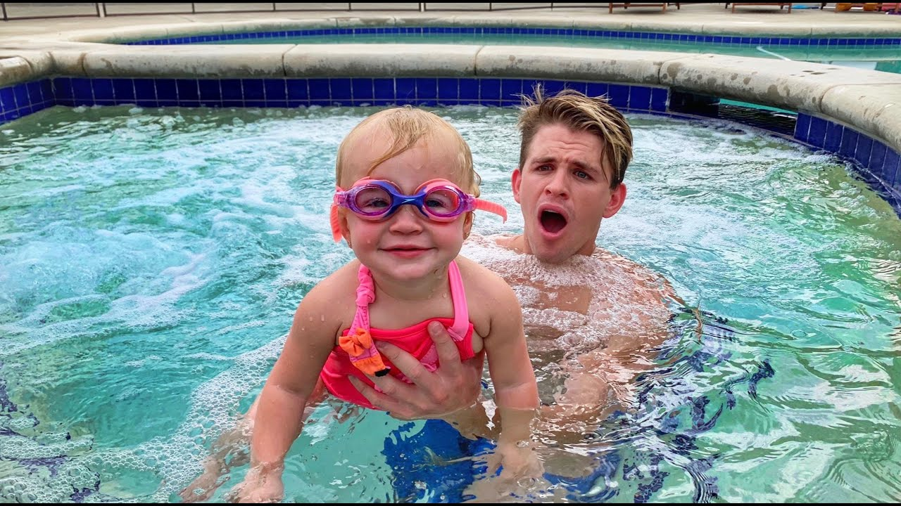 teach baby how to swim