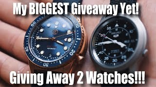 My Biggest Giveaway Yet!  Giving Away 2 Watches!!!