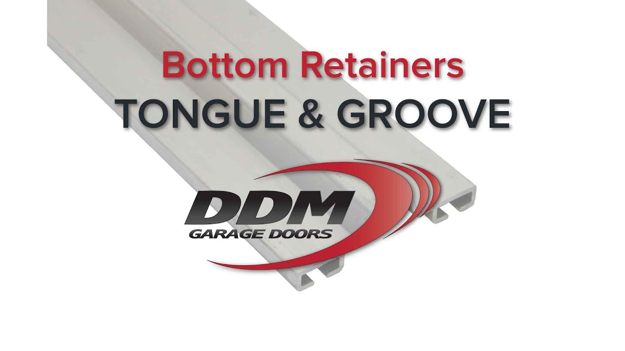 Garage Door Bottom Seal Retainers Tongue And Groove Youtube