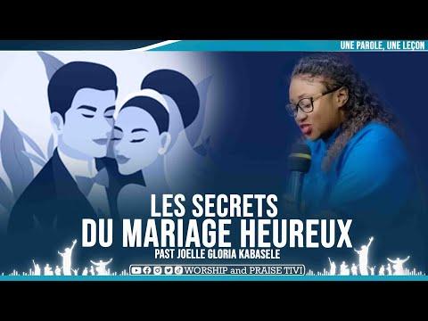 PAST JOELLE GLORIA KABASELE | LES SECRETS DU MARIAGE HEUREUX | IMPORTANT MESSAGE AVANT DE SE MARIER