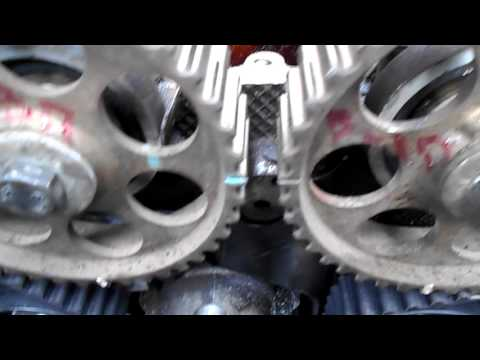 как поменять помпу  и ремень грм на деу нексия 16 клапанов #3