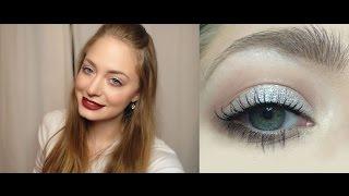 Зимний/сияющий макияж/глиттер/блестки: видео-урок