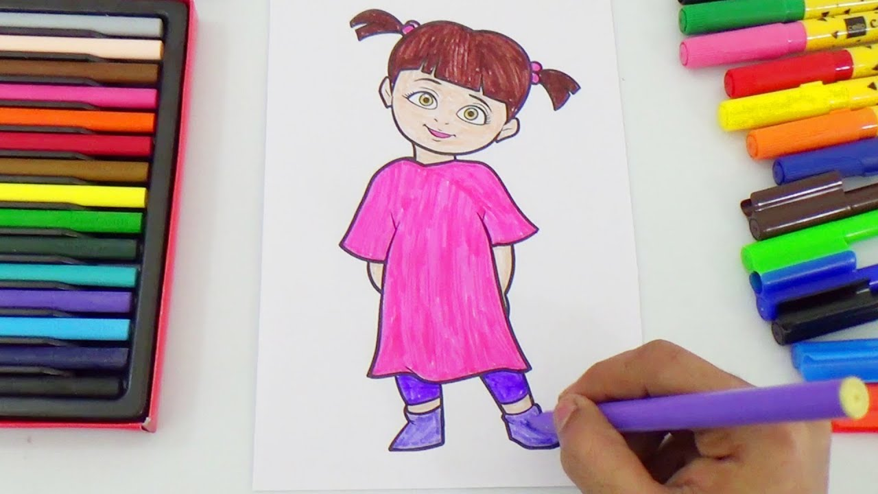 boo coloring monster inc characters coloring pages kids color