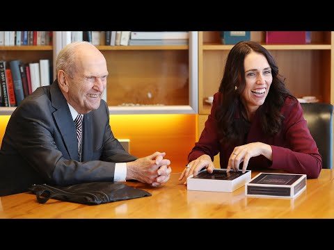 President Nelson Meets with New Zealand Prime Minister