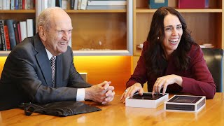 President Nelson Meets with New Zealand Prime Minister Jacinda Ardern