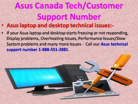 Asus Canada Tech Support Number| Customer Service Helpline Phone Number 1-888-551-2881