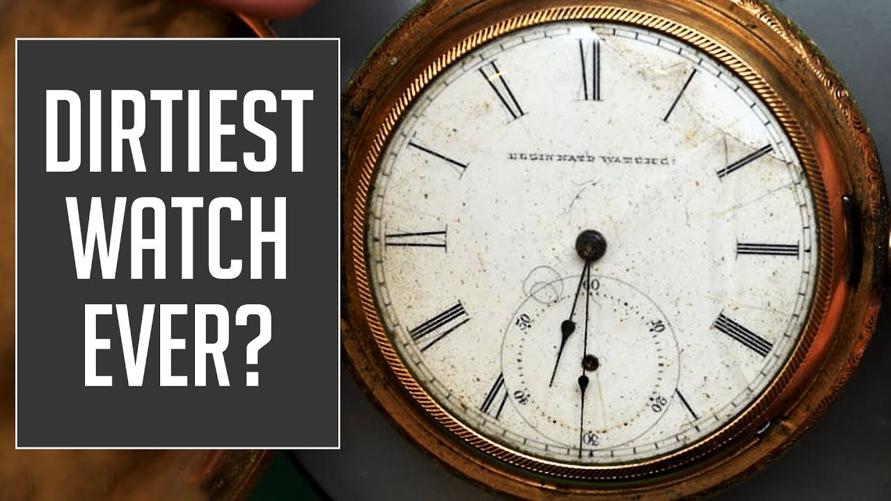 Elgin From the 1880s Vintage Pocket Watch Restoration