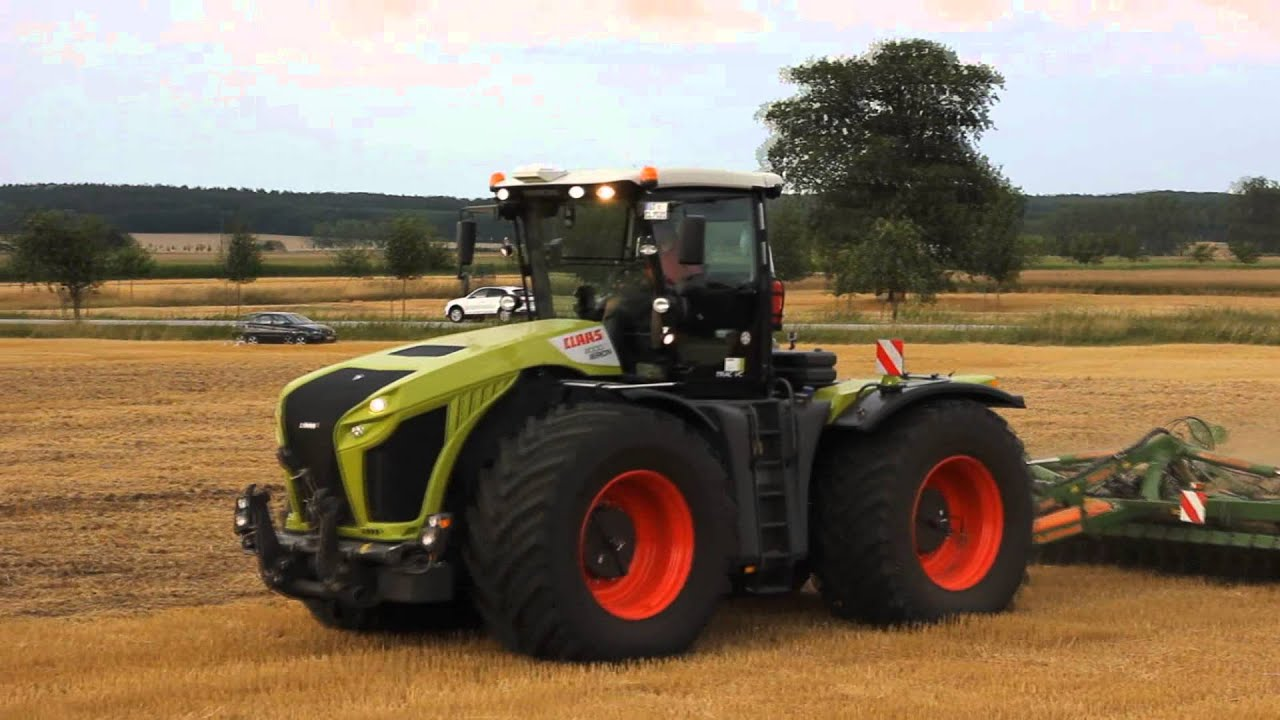 new claas xerion 4000 - youtube
