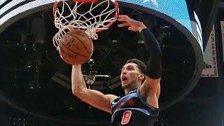 Zach LaVine Tip Slams Missed FT Like Jordan! 360 Dunk! 2018-19 NBA Season