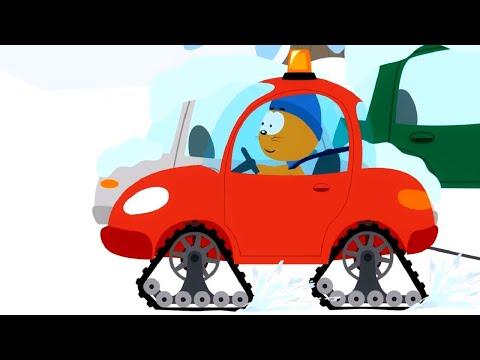 Мультфильм про машинки – Котенок и волшебный гараж –Снегоход - Для самых маленьких