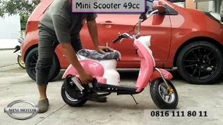 Motor Mini Scoopy / Scooter 49cc Mesin Tarik 2 tak Full Matic