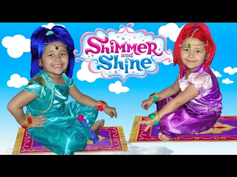 Shimmer and Shine Halloween Costumes Dress up and Surprise toys