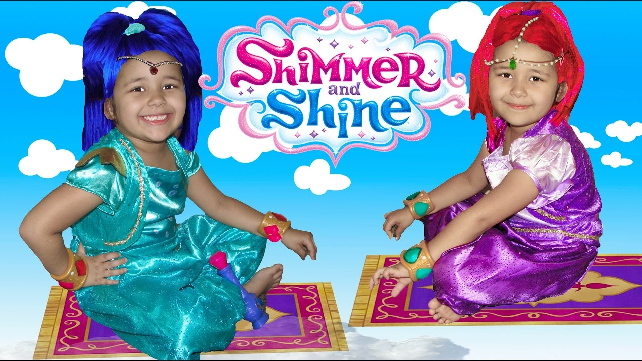 Shimmer and Shine Halloween Costumes Dress up and Surprise toys ...