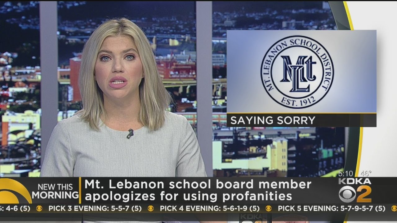 Mt. Lebanon School Board Member Apologizes For Using ...