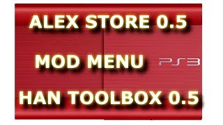 DESBLOQUEIO PS3: MOD MEU ALEX STORE 0.5 HAN TOOLBOX 0.5 TUTORIAL PS3XPLOIT 3.1 SUPER SLIM