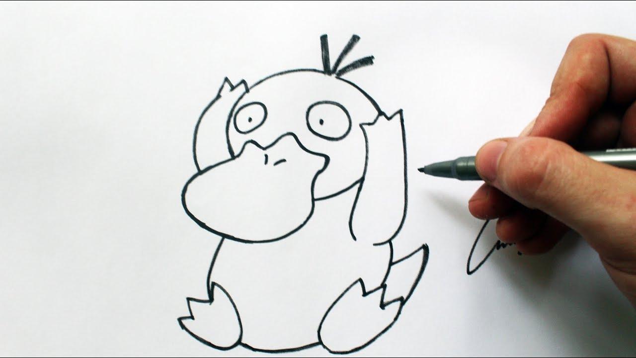 Como Desenhar Um Psyduck Pokemon How To Draw Psyduck