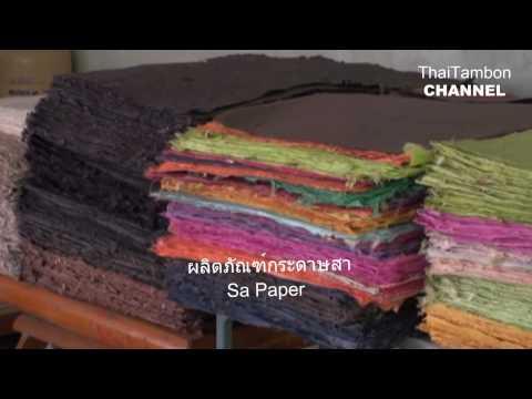 Sa (Mulberry) Paper - HD Video  การทำกระดาษสา