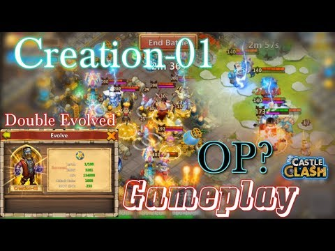 Double Evolved Creation-01 Gameplay OP Hero? Castle Clash